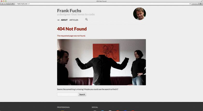 404 on frank-fuchs.net screenshot